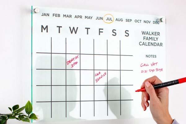 Acrylic Wall Calendar