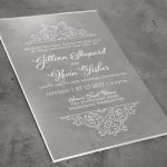 Acrylic Invitation Card