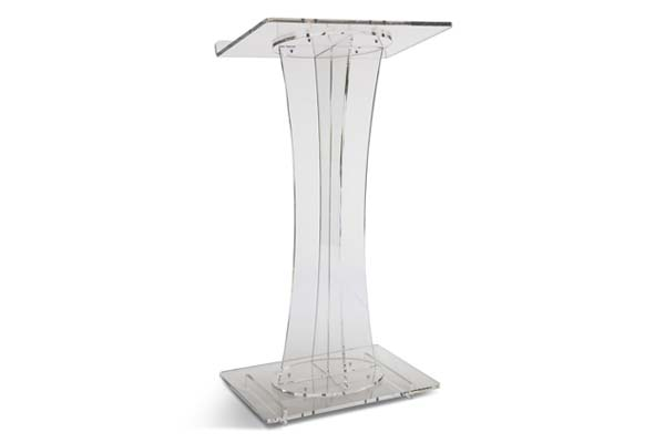 acrylic lectern podium stand
