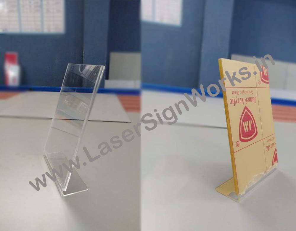 Acrylic Restaurant Menu Card Holder