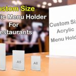 Acrylic Restaurant Menu Card Holder