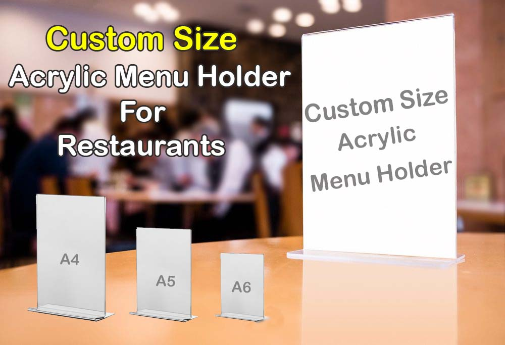 Acrylic Restaurant Menu Card Holder Manufacture in Chennai
