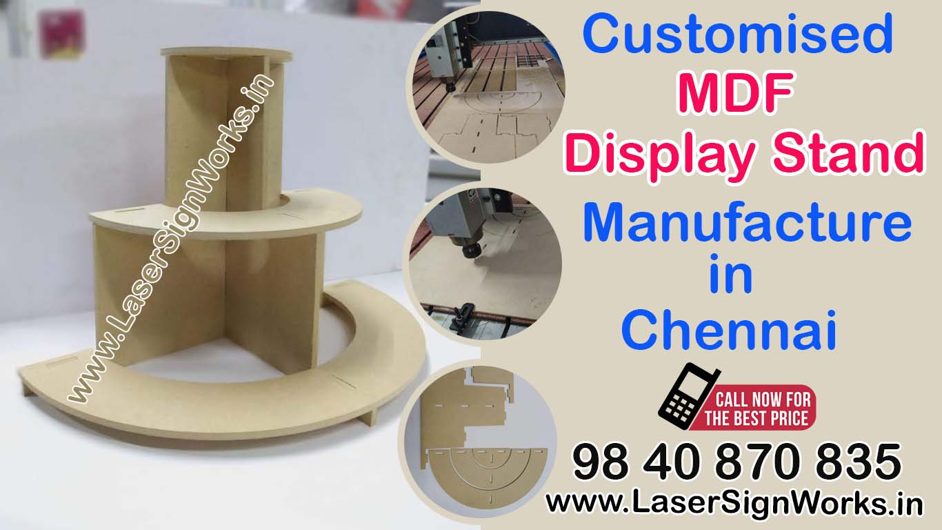 Customised MDF Display Stand Manufacture in Chennai