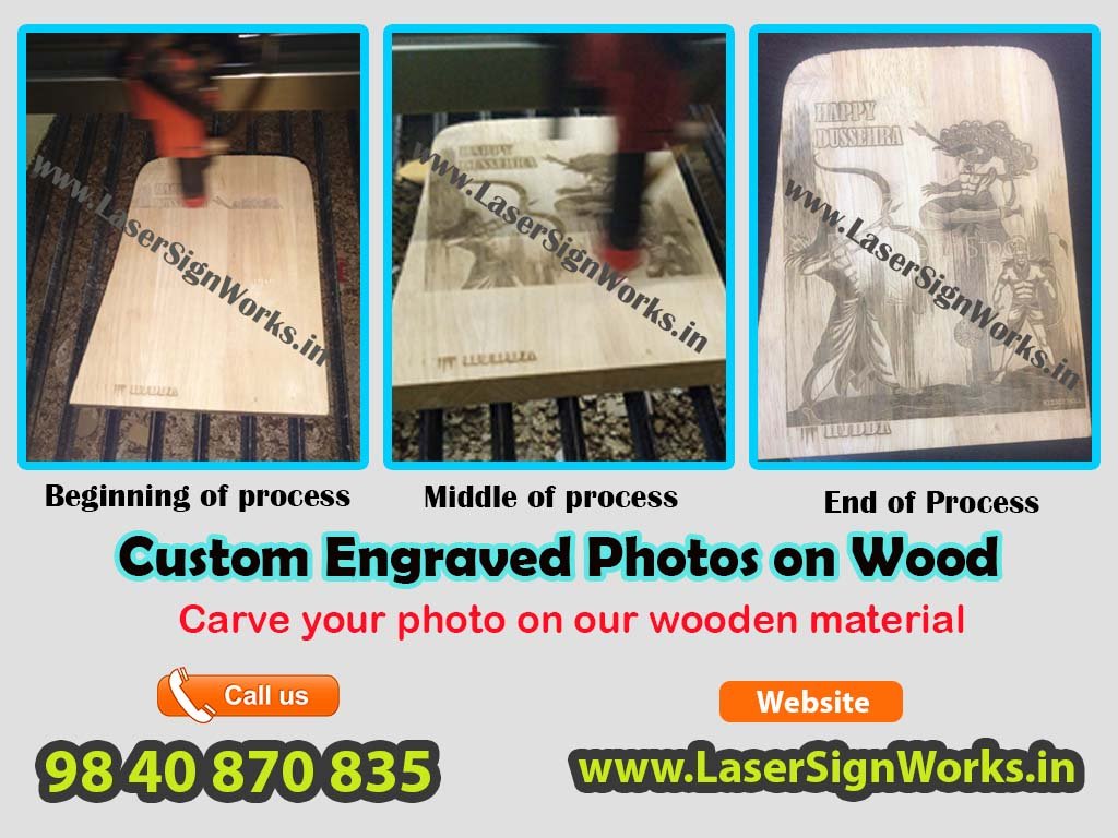Custom Engraved Photos on Wood