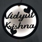 Home Name Board, MDF with LED Home Name Plate