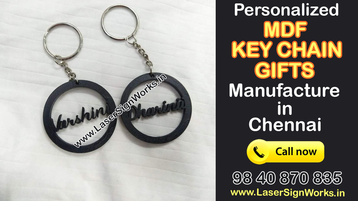 Personalised MDF Keychain with Name
