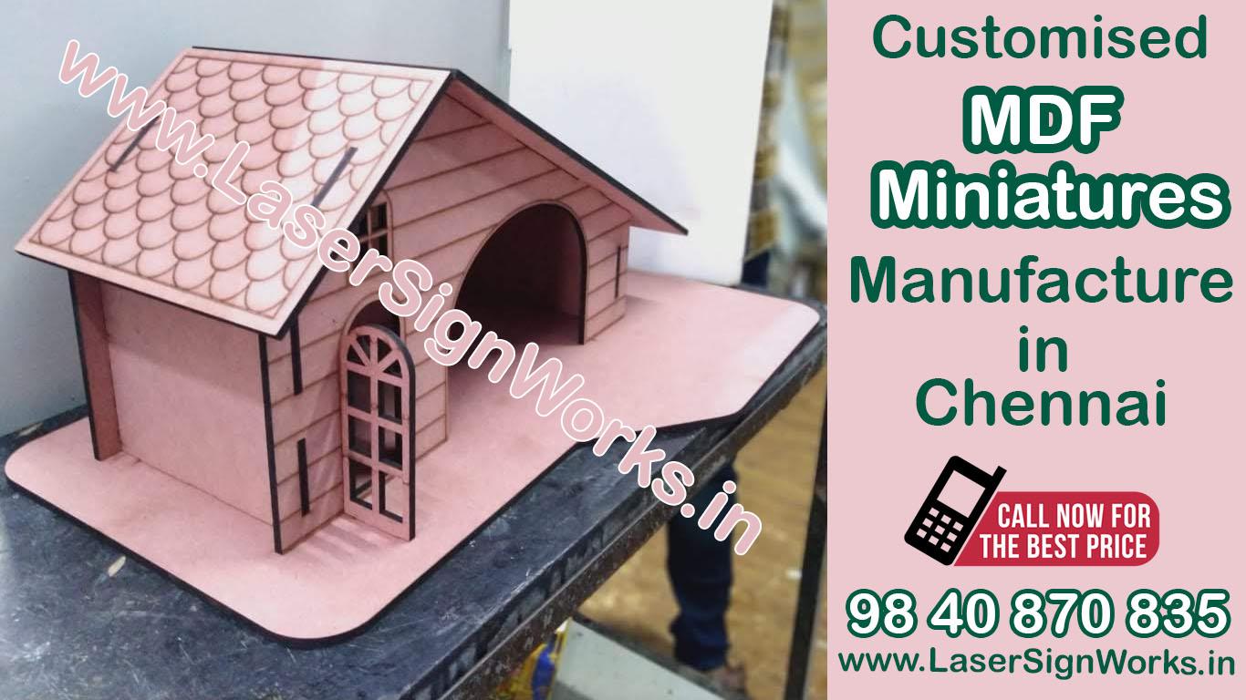 MDF Miniature House