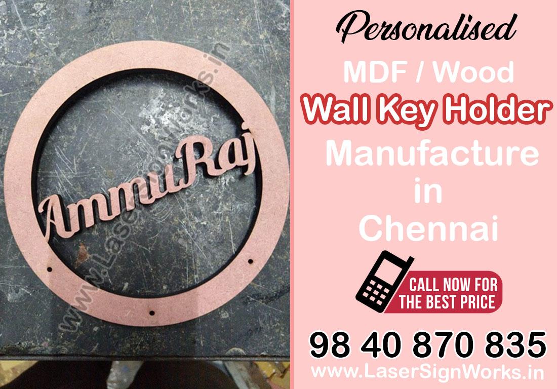 Personalised MDF/Wood Wall Key Holder Manufacturer - Chennai